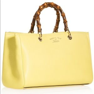 HP Gucci Exclusive Bamboo yellow Leather Tote